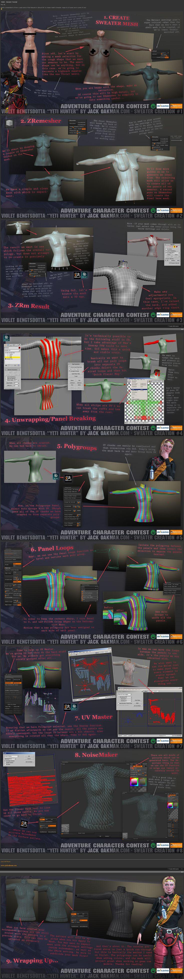 Sweater in Zbrush 4R6 #3d #sculpting #tutorials