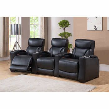 Stadium Black Top Grain Leather Power Recline Home Theatre Seating Includes LHF recliner chair armless recliner chair with console and RHF recliner chair ...  sc 1 st  Pinterest & Best 25+ Home theatre seating ideas on Pinterest | Stadium seats ... islam-shia.org
