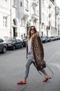 leopard faux fur coat | gucci lOAFERS | LUIS vuitton bag