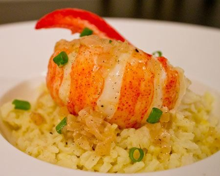 Lobster with Butter, Vanilla, and White Wine Sauce