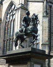 Statue of Charles II as a Roman Caesar, erected in Parliament Square Edinburgh in 1685
