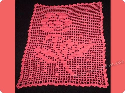 Техника филейного вязания
