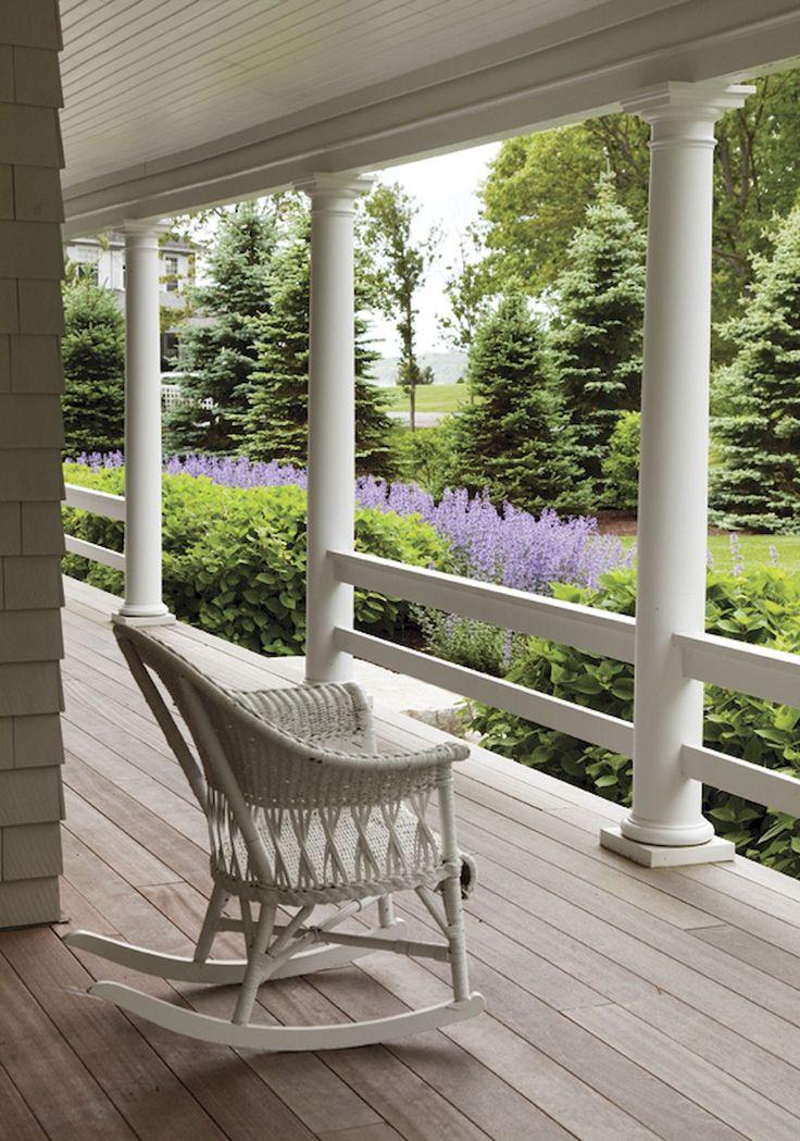 65 Stunning Farmhouse Porch Railing Decor Ideas (With