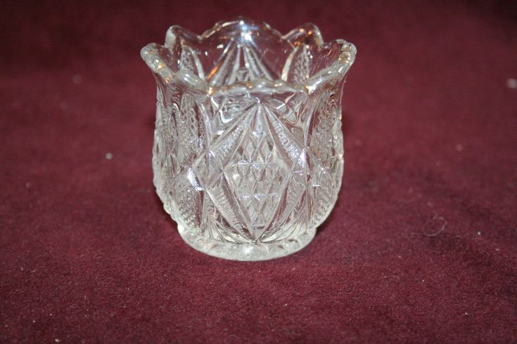 A gorgeous clear toothpick holder that is made in the Pennsylvania Pattern made by US Glass ca. 1898. Features a wonderful diamond decoration. This one is a real winner! | eBay!