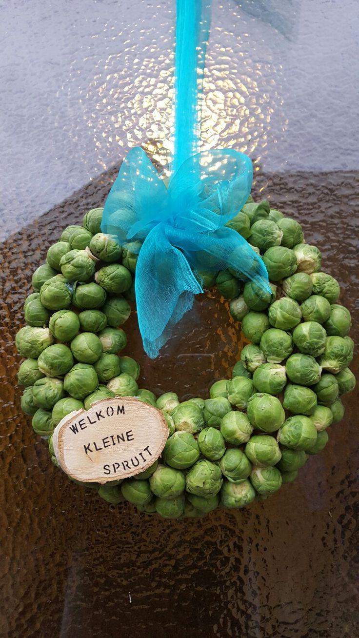 Geboorte krans  Welkom kleine spruit  Made by ellen moes