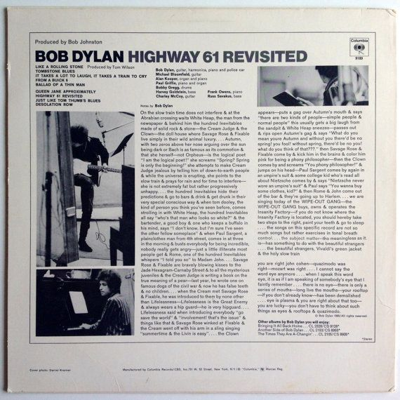 Bob Dylan Highway 61 Revisited LP Vinyl Record by ThisVinylLife