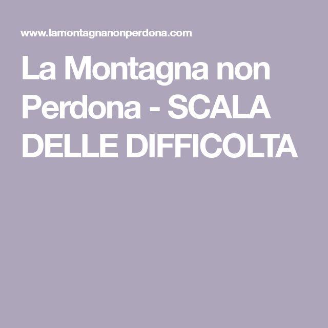 La Montagna non Perdona - SCALA DELLE DIFFICOLTA
