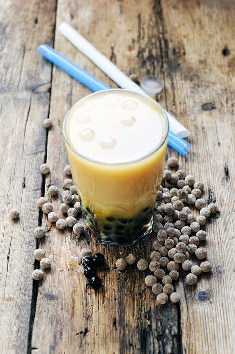 Dorian cuisine.com Mais pourquoi est-ce que je vous raconte ça... : J'adooooore les… Bubble tea ! La preuve en images mango bubble tea au menu…