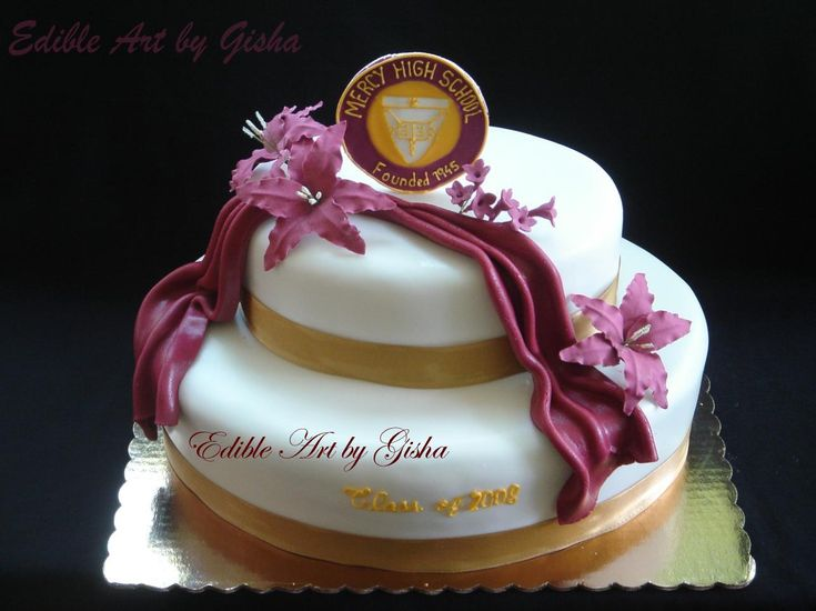 Mercy High School graduation cake