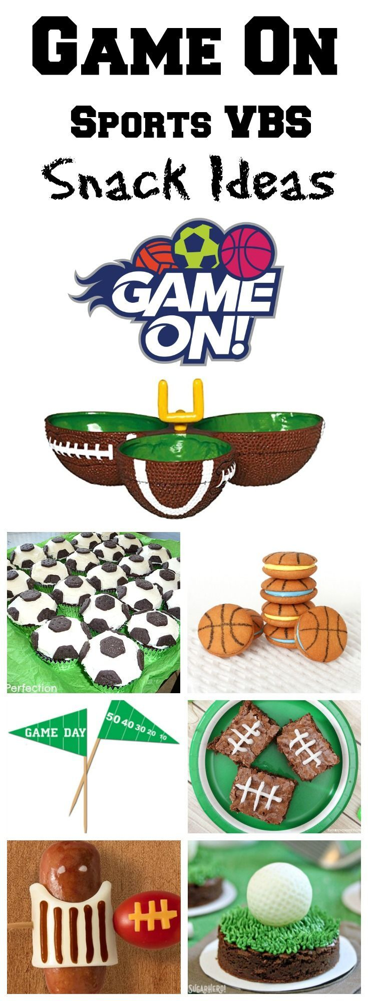 Are you gearing up for Game On VBS this year? You'll score major points with the kids with these awesome sport snack ideas!
