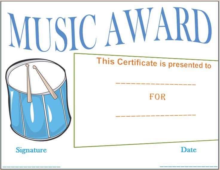 Drumbeat Award Certificate Template
