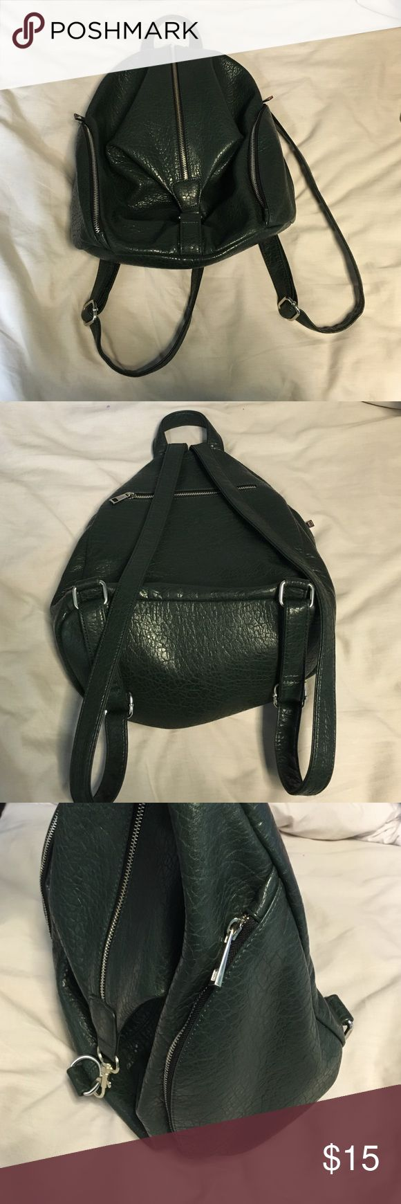 Great faux leather green backpack Great faux leather green backpack Forever 21 Bags Backpacks