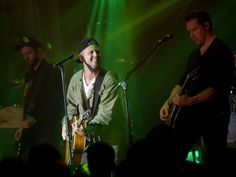 From left, musicians Eddie Fisher, Ryan Tedder and Zach Filkins of OneRepublic perform at the Bud Light Super Bowl 50 party.  Jason Kempin, Getty Images for Bud Light