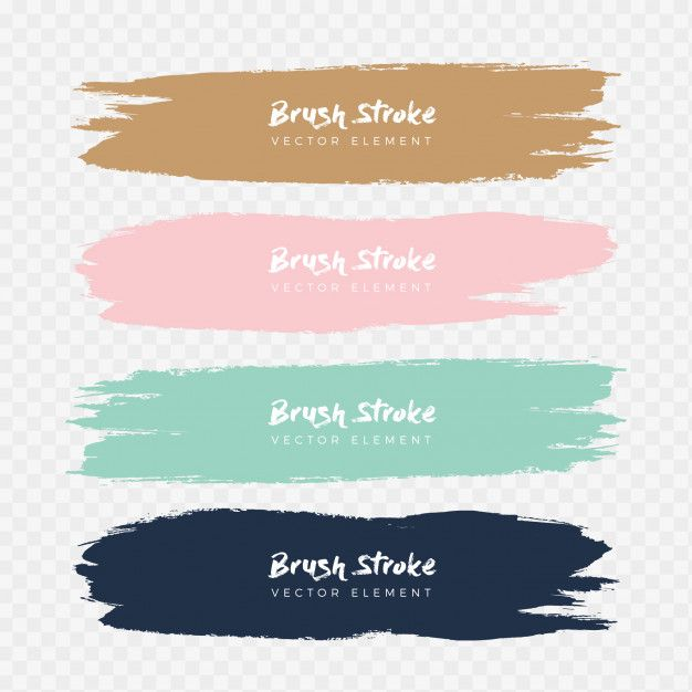 Abstract Watercolor Grunge Brush Stroke Set Free Vector Abstract