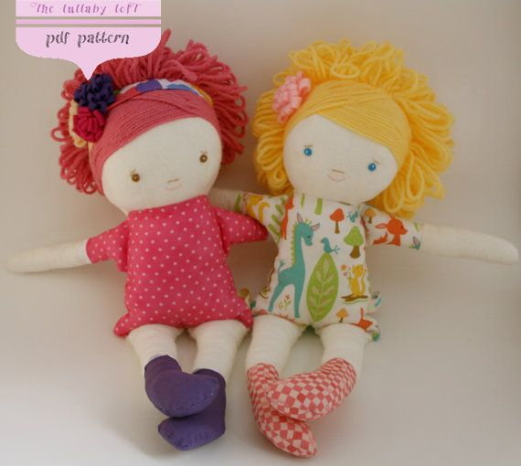 Little Girl Soft Doll Sewing Pattern