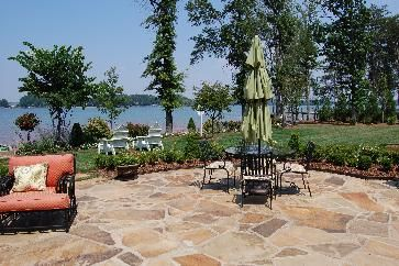 96 best garden patio lakeside images on pinterest decks for Lakefront landscaping photos
