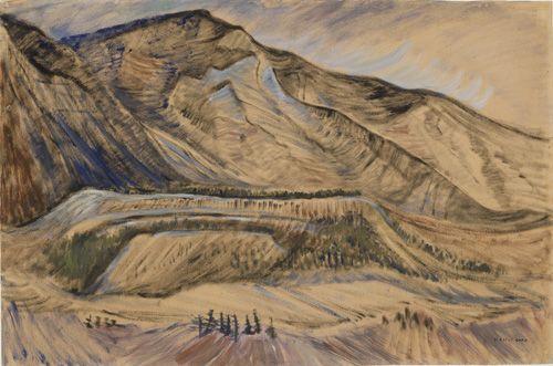 Untitled, 1933, oil, Emily Carr. Pemberton trip. VAG 42.3.61