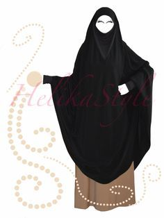 This time we sew khimar-poncho having sleeves and we will try to make khimar more comfortable for the face – we will insert a jersey gusset for the chin area. To sew this kind of khimar I too…