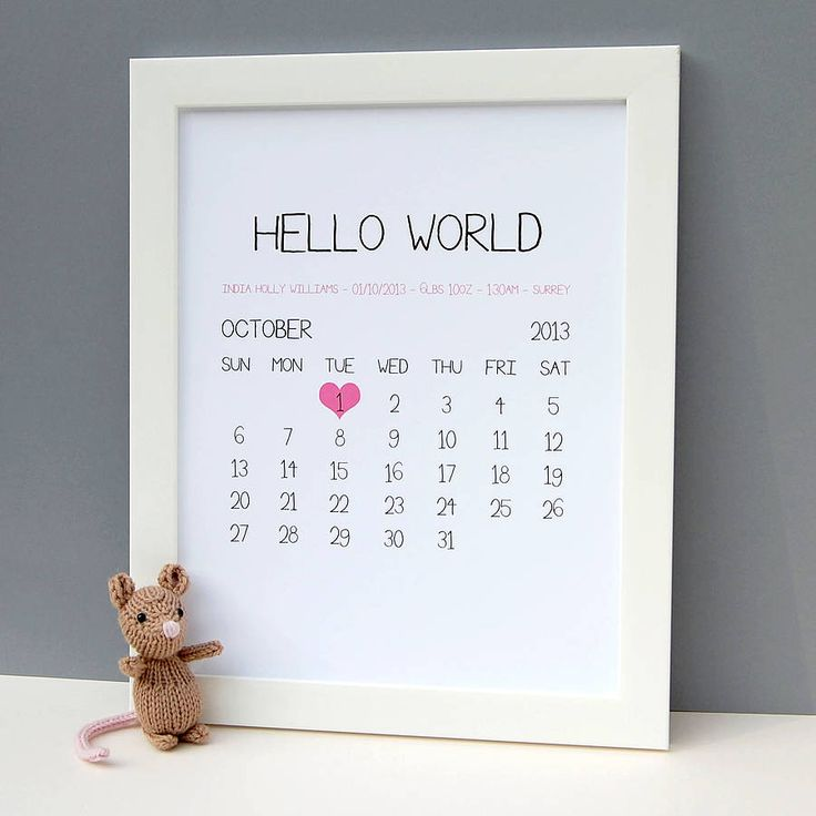 personalised baby birth date print by thispaperbook | notonthehighstreet.com