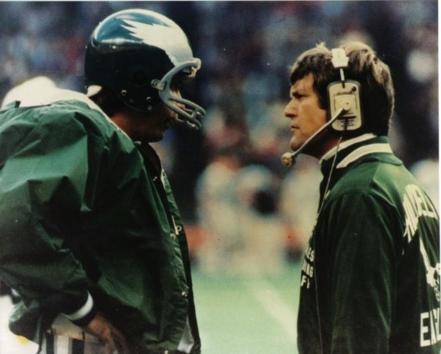 Dick Vermeil Ron Jaworski Philadelphia Eagles