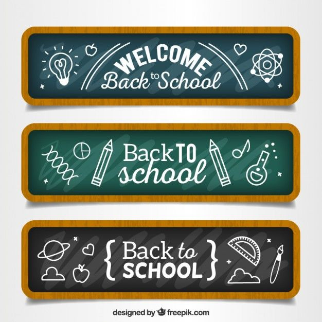 Free vector Hand drawn back to school banners #15691
