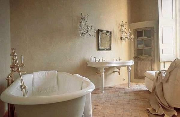 This bathroom is to die for my perfect mj at home spa for Blue bathroom wallpaper