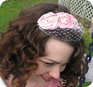 Make Your Own (Lovely) Hat ~ Veiled Springtime Bandeaux || Miss Moss Demi-Millinery for Sew,Mama,Sew!