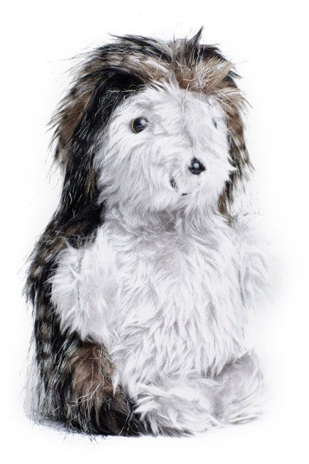 """Toy Daddy Hedgehog Art Doll Black Grey Fleck  by COLDHAMCUDDLIES  """"10% of all Hedgehog Toys - jointly or severally - will be shared between too Hedgehog Hospitals in the UK, West Midlands Hedgehog Rescue and Tiggywinkles, The Wildlife Hospital Trust. Your support here is therefore doubly useful and much appreciated."""""""
