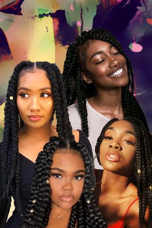 25 Beautiful Black Women Show Us How To Slay In Jumbo Braids
