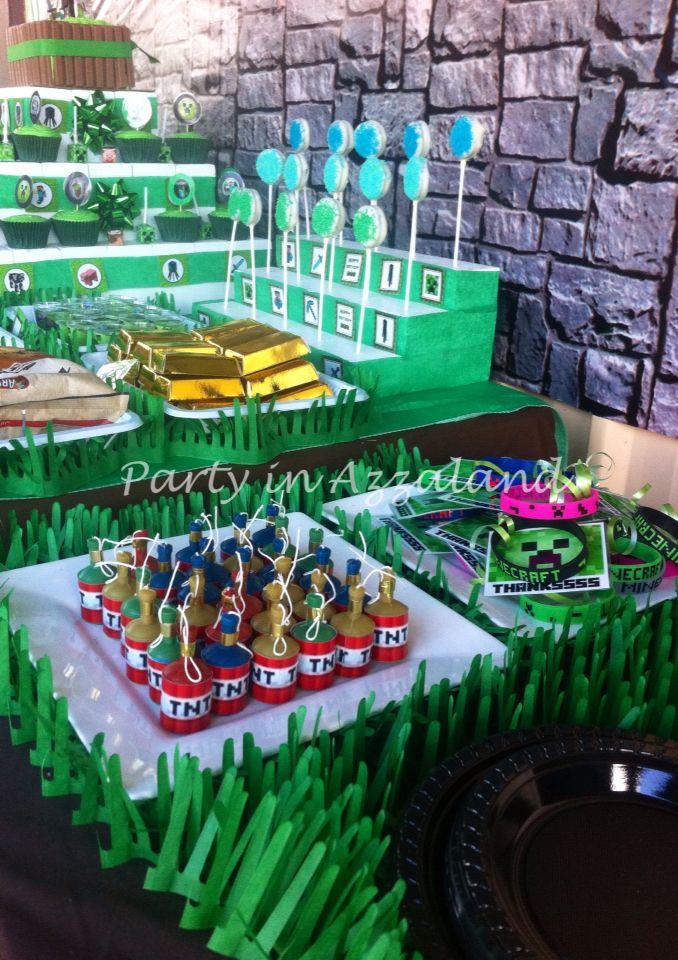 Minecraft TNT party poppers, party favour bracelets