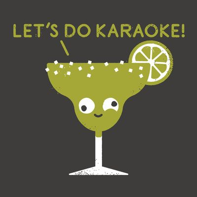 """Marge in Charge Art Print - drunk margarita glass """"let's do karaoke"""" by David Olenick on society6"""