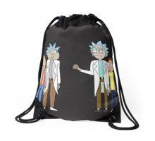 Doc and Mharti and Rick and Morty Drawstring Bag