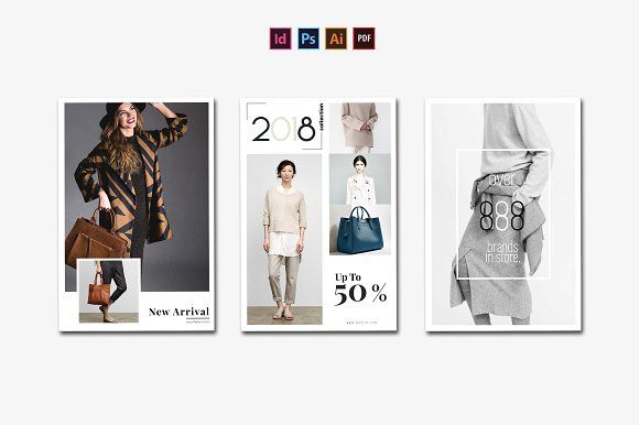 Postcard Fashion Flyer by Ahsanjaya on @creativemarket