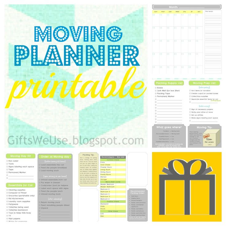 Moving? Use this planner to organize your process and make for a better transition.
