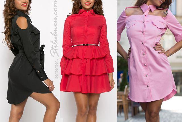 Cele mai spectaculoase modele de rochii tip camasa sau ... de camasi tip rochie din online!
