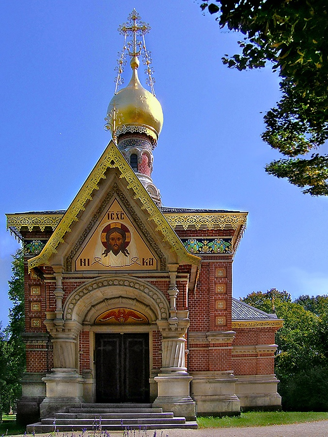 The German church with a cornerstone laid by Nikolay II in 1896 ~ Bad Homburg's popularity with late 19th-century European Royalty included the Russian Royal Family, as well as a great deal of their nobility.