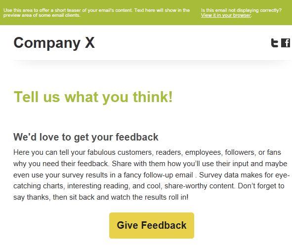 Survey Invitation Google Search NPS Survey Email