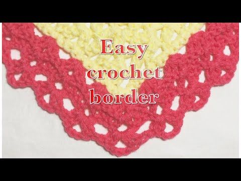 e7c0008a1 Easy crochet fan stitch border for baby blankets  99 - YouTube ...