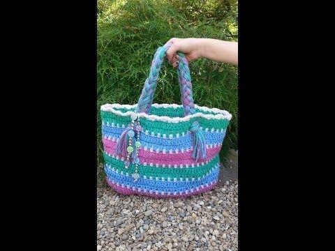 CROCHET  How to  #Crochet Summer Beach Bag #TUTORIAL #87 LEARN CROCHET - YouTube