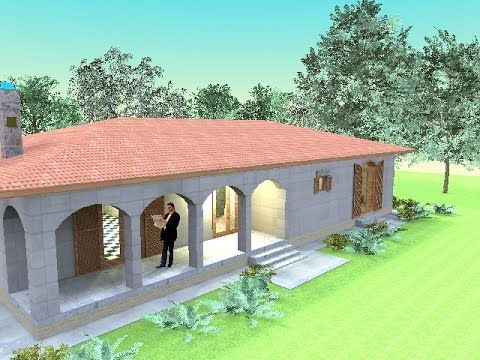 Small bungalow design 1780 square feet with one bedroom Artlantis 2016 d...