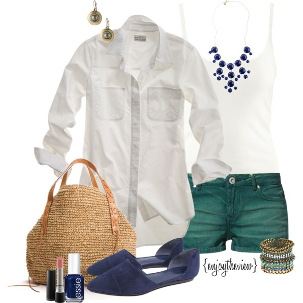 teal & cobalt by enjoytheview on Polyvore
