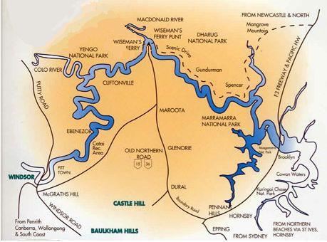map of the Hawkesbury region, NSW