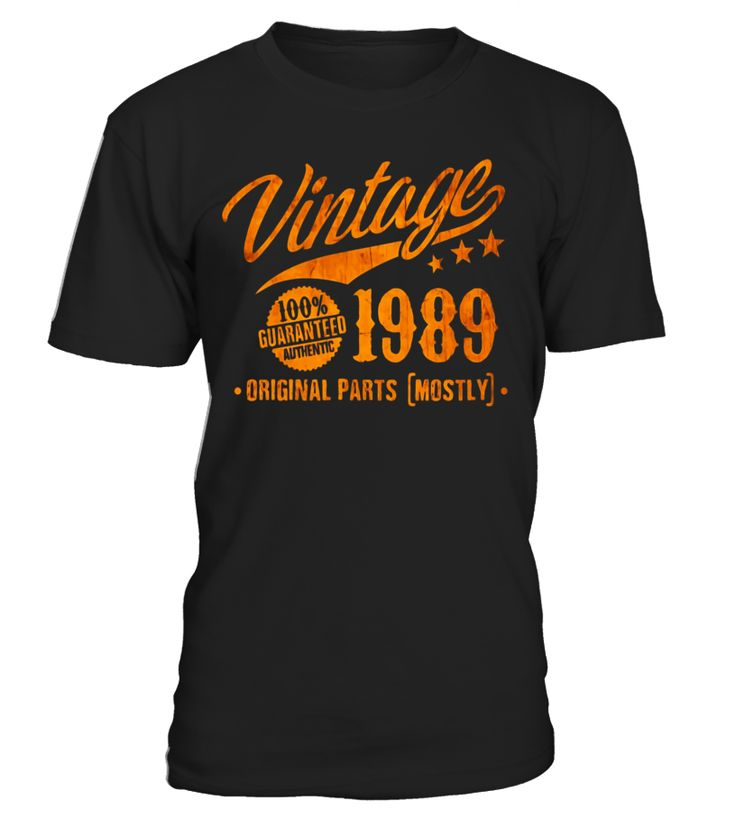 28th Birthday Gift T-Shirt Vintage 1989 - 28 Years Old Shirt  Funny Birthday T-shirt, Best Birthday T-shirt