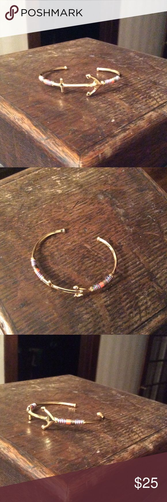 Anchor bracelet Stella & dot Beautiful dainty anchor bracelet by Stella & Dot. Stella & Dot Jewelry Bracelets