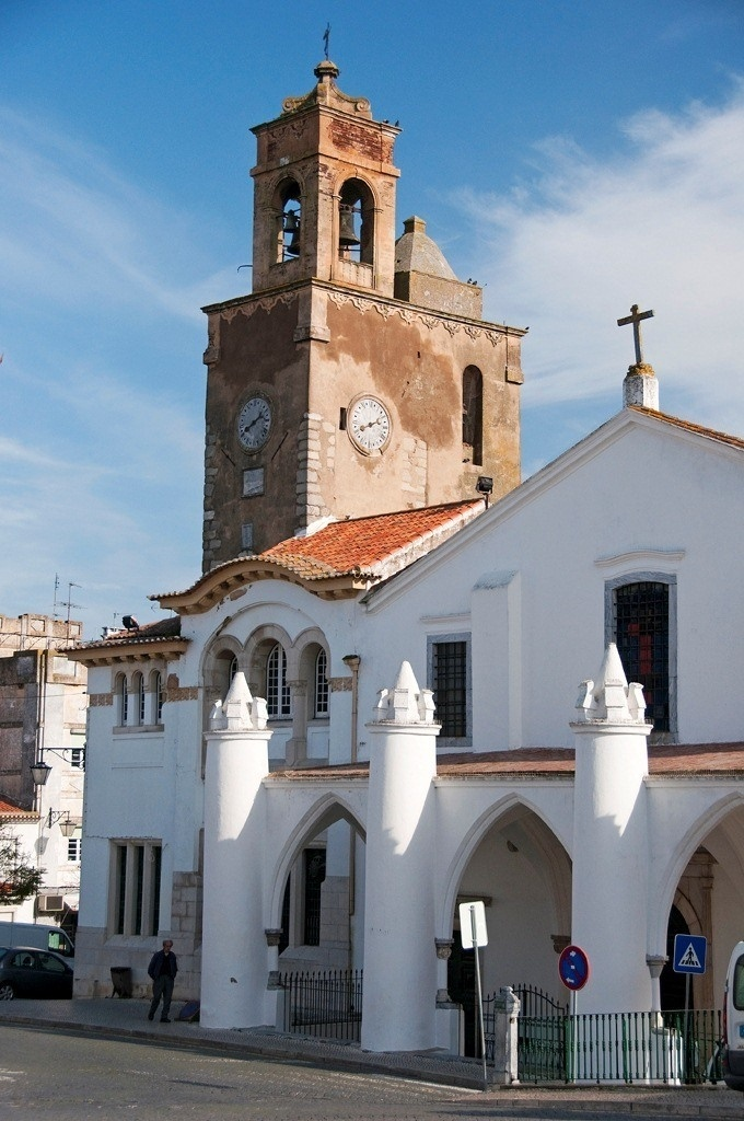 Beja, the white simplicity of the portuguese small towns - the church and the clock tower -Portugal