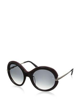 66% OFF Nina Ricci Women's NR3720 Sunglasses, Black/Burgundy