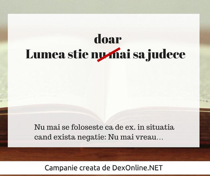 Salvam limba romana impreuna! #salveazalimbaromana #dex #gramatica dexonline.net/
