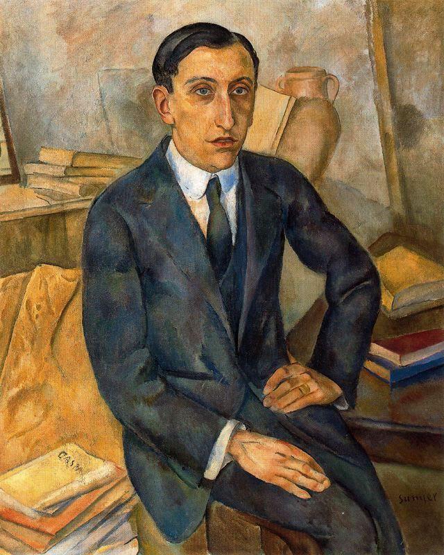 Joaquim Sunyer retrato de Josep M Albinana