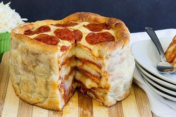 This Easy Recipe For Pepperoni Pizza Cake Will Change Your Life