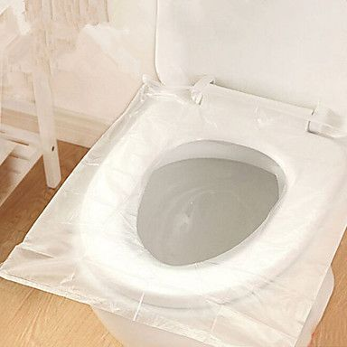 1Box 50Pcs Disposable Toilet Seat Cover Mat 100% Waterproof Travel Portable  Toilet Pad